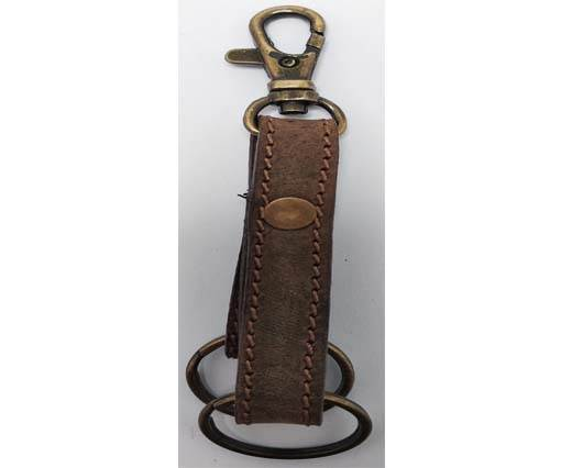 Buy KeyChain-Plain-style1- DOUBLE -  DARK BROWN at wholesale prices