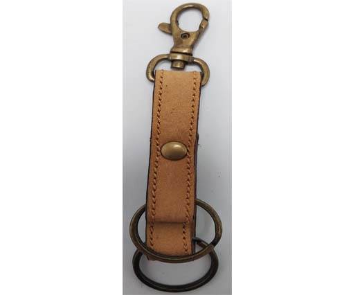 Buy KeyChain-Plain-style1-DOUBLE -  LIGHT BROWN at wholesale prices