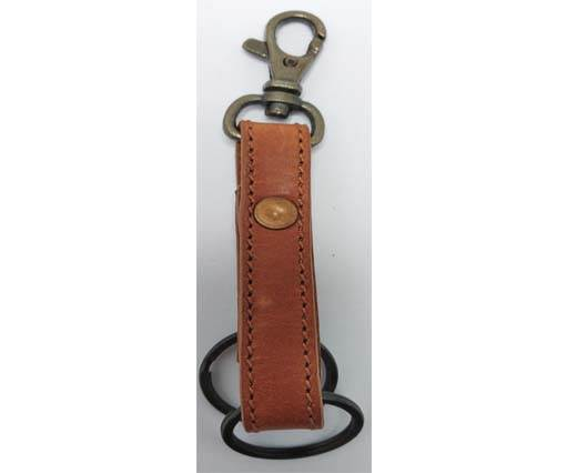 Buy KeyChain-Plain-style1- DOUBLE -  RED BROWN at wholesale prices