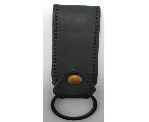 Buy KeyChain-Plain-style1-flat -  BLACK at wholesale prices