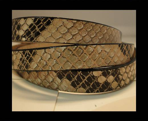 Buy Real Leather Snake Style - Natural with Black Dots-10mm at wholesale prices