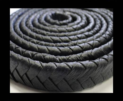Buy Real Nappa Flat Woven Cords - 15 mm - Dark blue at wholesale prices