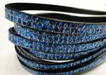 Real Nappa Leather - BLUE -Glitter Style -5mm