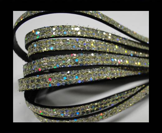 Real Nappa Leather - PLATINUM -Glitter Style -10mm