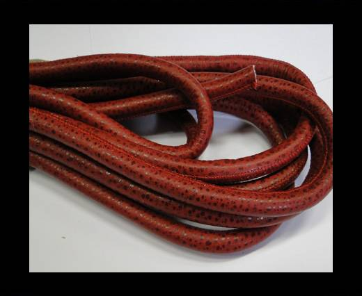 Real Nappa Leather Cords- Red -8mm