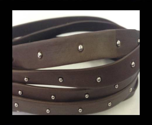 Buy Real Nappa Leather with studs-5mm-dark taupe at wholesale prices