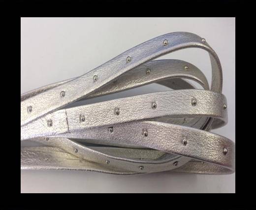 Buy Real Nappa Leather with studs-5mm-silver at wholesale prices
