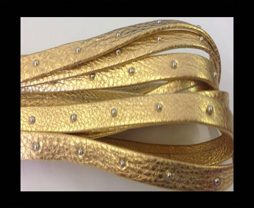 Buy Real Nappa Leather with studs-5mm-gold at wholesale prices