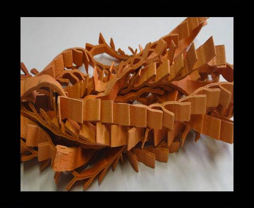 Buy Real Nappa Leather Ribbon Style -7mm- Orange at wholesale prices