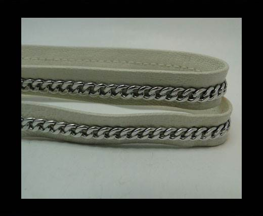 Buy Real Nappa Leather Chain Stitched-10mm-Single-Beige at wholesale prices