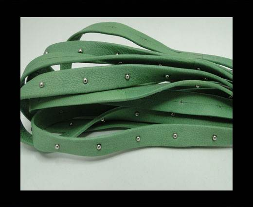 Buy Real Nappa Leather with studs - 10mm - Mint at wholesale prices