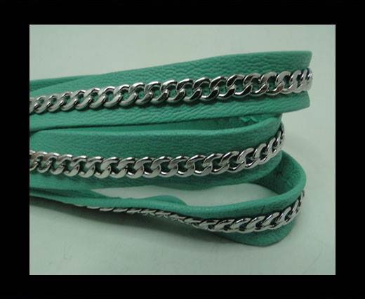 Buy Real Nappa Leather Chain Stitched-10mm-Single-Acquamarine at wholesale prices