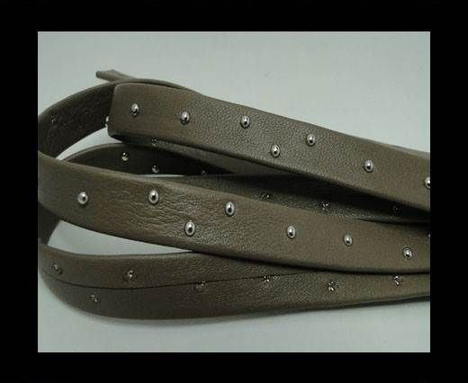 Buy Real Nappa Leather with studs - 10mm - Taupe at wholesale prices