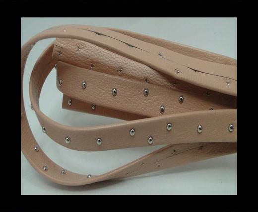 Buy Real Nappa Leather with studs - 10mm - Pastel Pink at wholesale prices