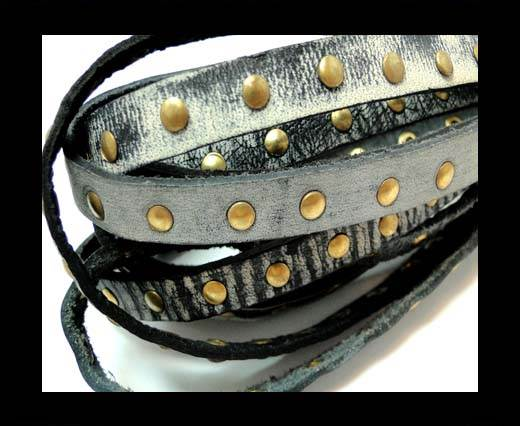 Buy Real Nappa Leather with studs-10mm-Vintage Grey at wholesale prices
