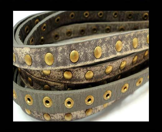 Buy Real Nappa Leather with studs-10mm-Vintage Taupe at wholesale prices