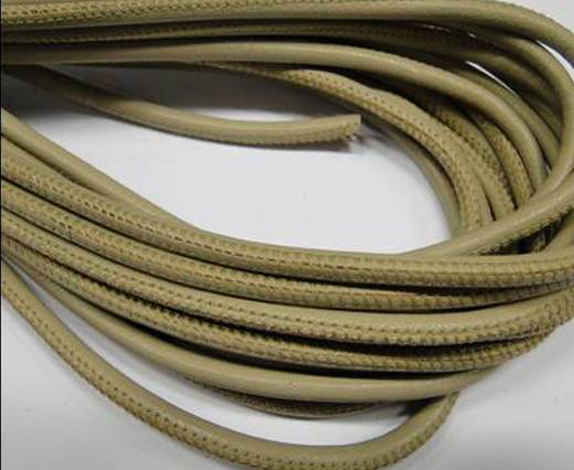 Round stitched nappa leather cord -Beige