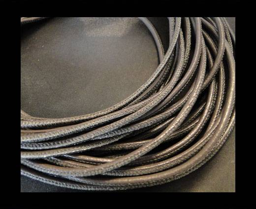 Buy Round stitched nappa leather cord Dark Taupe-4mm at wholesale prices