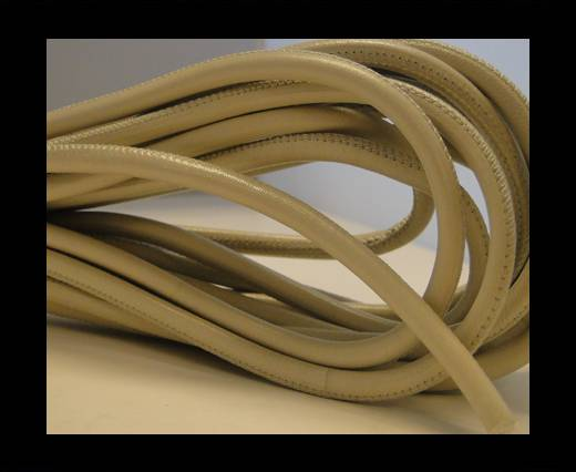 Buy Round stitched nappa leather cord Dark Cream-4mm at wholesale prices