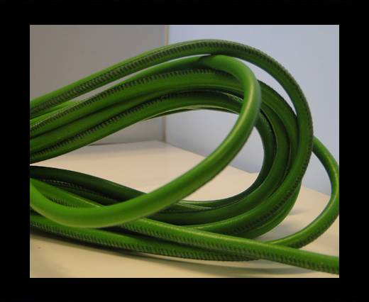 Buy Round stitched nappa leather cord Light Green-4mm at wholesale prices