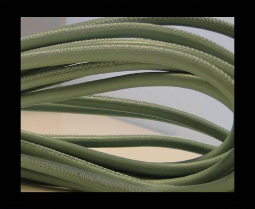 Buy Round stitched nappa leather cord Light Mint-4mm at wholesale prices