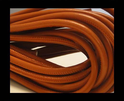 Round stitched nappa leather cord Dark Orange-6mm