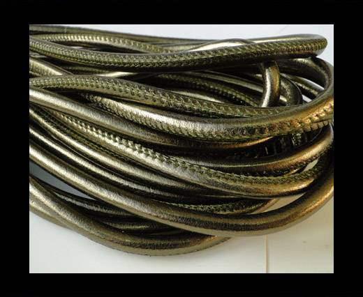 Round stitched nappa leather cord Bronze-6mm