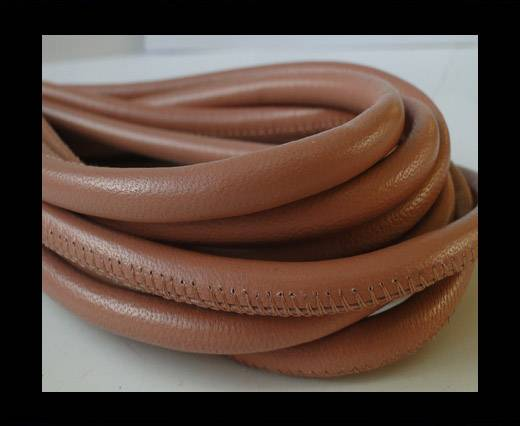Round stitched nappa leather cord mild pink-6mm