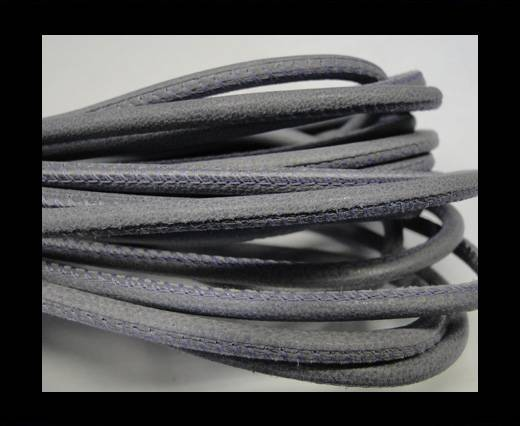 Buy Round stitched nappa leather cord 4mm-Lila at wholesale prices