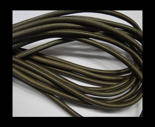 Round stitched nappa leather cord 6mm-Taupe