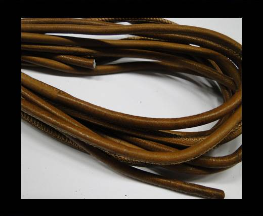 Buy Round stitched nappa leather cord Light Brown at wholesale prices