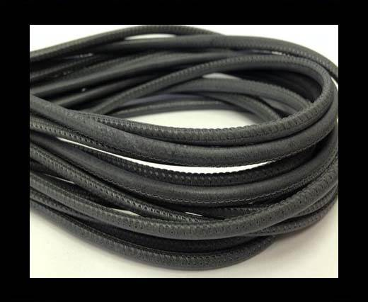 Buy Round stitched nappa leather cord 4mm-Medium Grey at wholesale prices