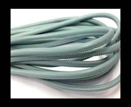 Buy Round stitched nappa leather cord 4mm-Sky at wholesale prices