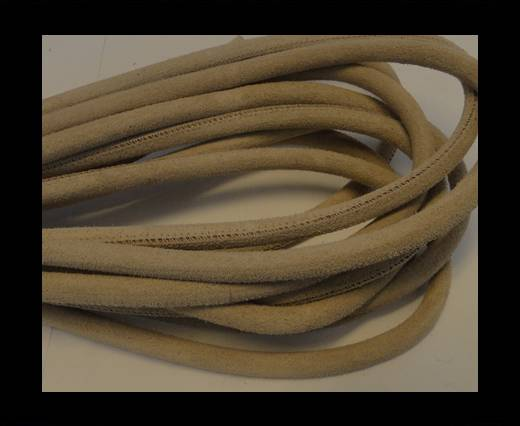 Round stitched nappa leather cord Suede Round-Natural-6mm