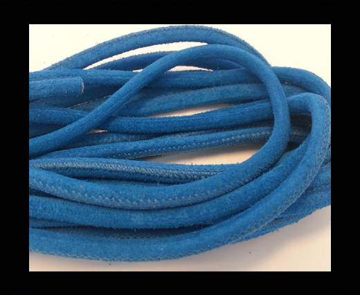 Round stitched nappa leather cord Suede Round-Bermuda Blue-4mm