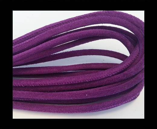 Round stitched nappa leather cord Purple-4mm