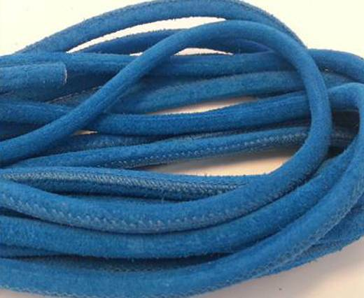 Buy Round stitched nappa leather cord Suede Round-Bermuda Blue-4mm at wholesale prices