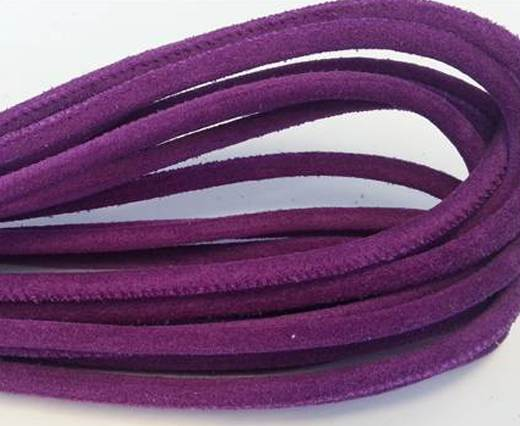 Buy Round stitched nappa leather cord Purple-4mm at wholesale prices