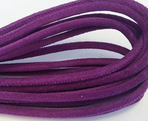 Real Nappa Suede Round-Purple-6mm