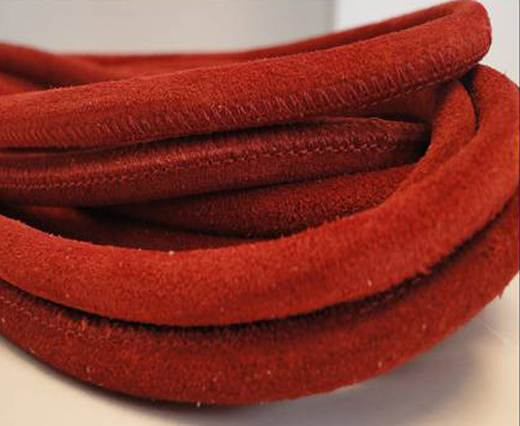 Real Nappa Suede Round-Red -6mm