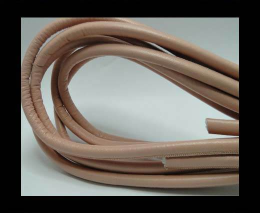Round stitched nappa leather cord Salmon - 8mm