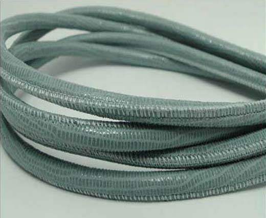 Buy Round stitched nappa leather cord Lizard Prints -Pastel Blue Liza at wholesale prices