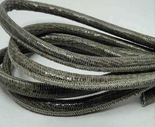 Buy Real Round Nappa Leather cords - Lizard Prints -Taupe Lizard- 6m at wholesale prices