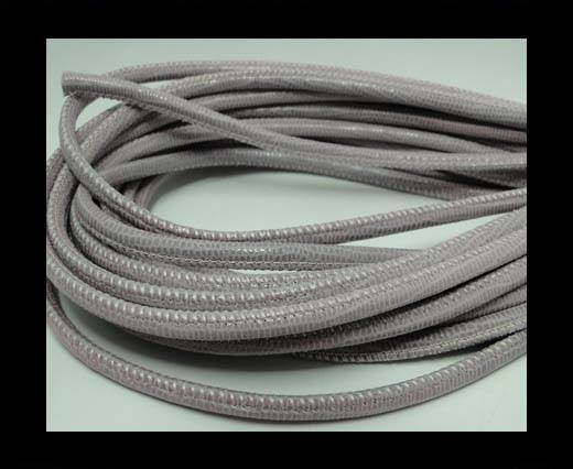 Buy Real Round Nappa Leather cords-Lizard Prints-Rose Lizard- 4mm at wholesale prices