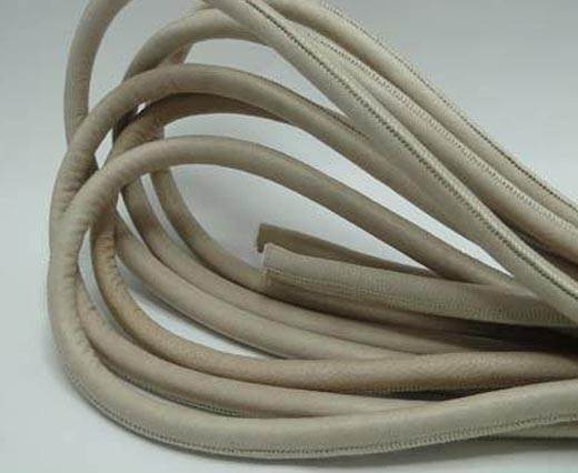 Real Round Nappa Leather cords - Beige - 8mm