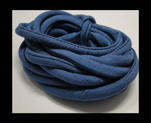 Buy Real silk cords with inserts - 4 mm - Aquamarine at wholesale prices