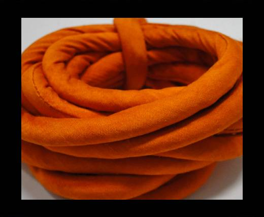 Real silk cords with inserts - 8 mm - Saffron