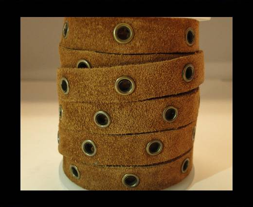 Real Suede Leather with Rivet -Rusty-10mm