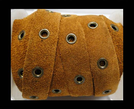 Real Suede Leather with Rivet -Rusty -10mm