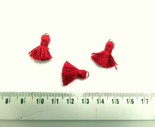 Cotton Tussels - 1,5mm - Red
